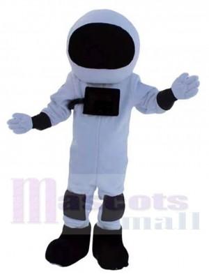 Astronaute Costume de mascotte en combinaison spatiale noire et blanche Gens
