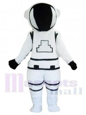 Astronaute blanc Cosmonaute Costume de mascotte Gens