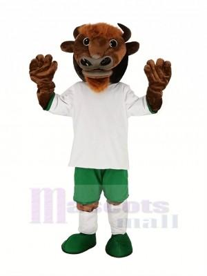 marron Buffle Bison Mascotte Costume Animal
