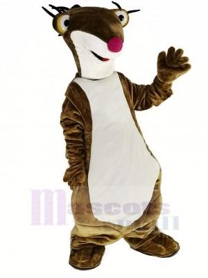 marron Sol La paresse Sid pour La glace Âge Mascotte Costume Animal