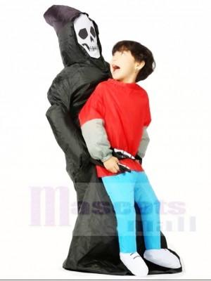 SKull Fantôme Porter Moi sur Démon Gonflable Halloween Les costumes pour Des gamins