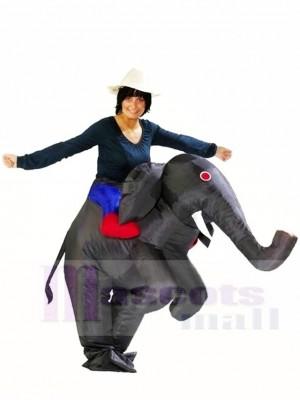 Balade sur Noir l'éléphant Gonflable Halloween Noël Les costumes pour Adultes