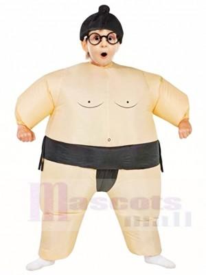 Noir Japonais Graisse Homme Sumo Gonflable Halloween Noël Les costumes pour Des gamins