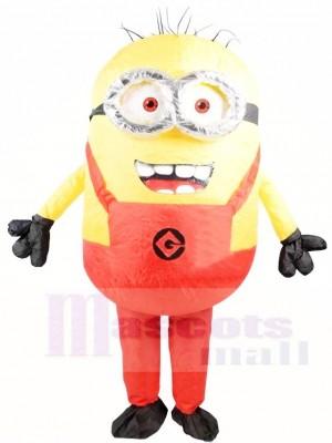 Méprisable Moi rouge Deux Les yeux Minions Gonflable Halloween Noël Les costumes pour Adultes
