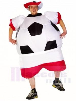 Monde Coupe Pologne Football Joueur Gonflable Halloween Noël Les costumes pour Adultes