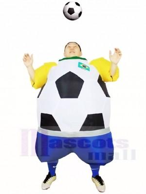 Monde Coupe Brésil Football Joueur Gonflable Halloween Noël Les costumes pour Adultes