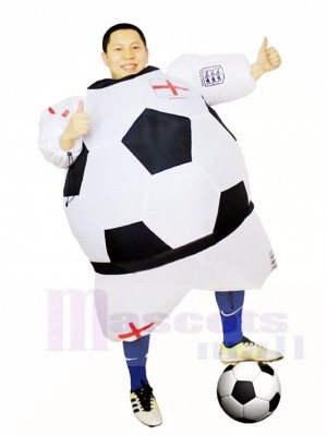 Monde Coupe Angleterre Football Joueur Gonflable Halloween Noël Les costumes pour Adultes