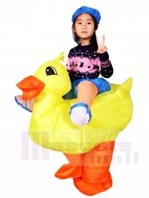 Jaune canard Porter moi Balade sur Gonflable Halloween Noël Les costumes pour Des gamins