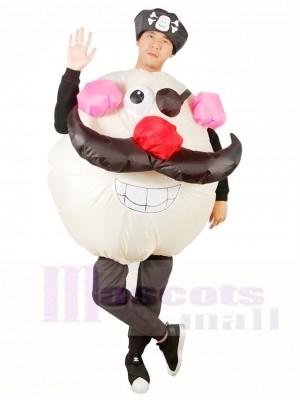 Rond Visage Capitaine Pirate Gonflable Halloween Noël Les costumes pour Adultes