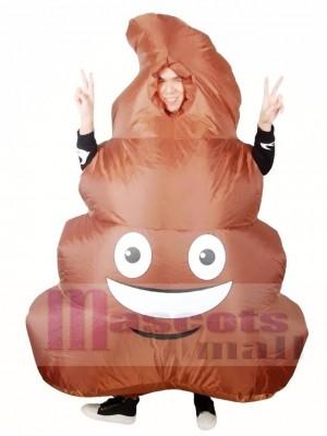 Emoji Caca Pile Smiley Visage Merde Gonflable Halloween Noël Les costumes pour Adultes