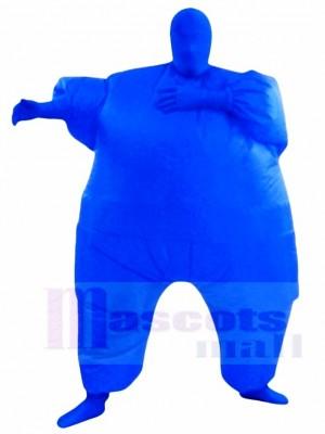 Bleu Plein Corps Costume Gonflable Halloween Noël Les costumes pour Adultes