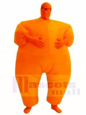 Orange Plein Corps Costume Gonflable Halloween Noël Les costumes pour Adultes