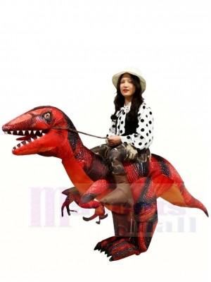 Velociraptor Dinosaure Porter Moi Balade Sur T-Rex Gonflable Halloween Les costumes pour Adultes