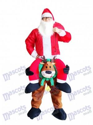 Renne Carry Me Costume mascotte renne Carry Santa Claus Père Noël Déguisement