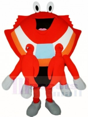 Orange Crabe Mascotte Les costumes Fruit de mer
