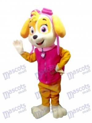 Personnage de dessin animé de chien de Costume de mascotte Skye de Patte Patrol