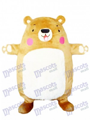 Costume de mascotte adorable Big Bear Tan Bear Animal