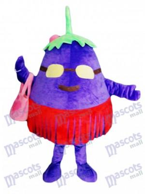 Purple aubergine mère légume mascotte Costume plante alimentaire