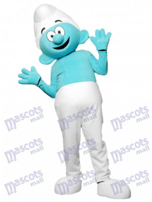 Costume de mascotte des Schtroumpfs bleu Cartoon Anime