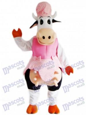 Vache en robe rose Mascotte Costume Animal