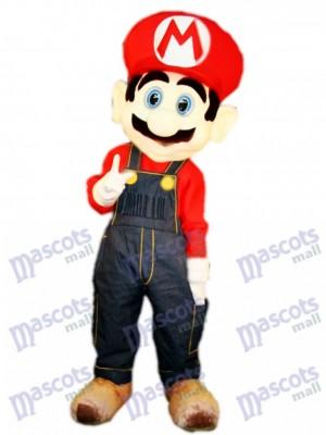 Anime animé de dessin animé de mascotte de Red Mario de plombier