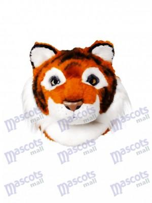 Tête de mascotte de tigre amical seulement Animal