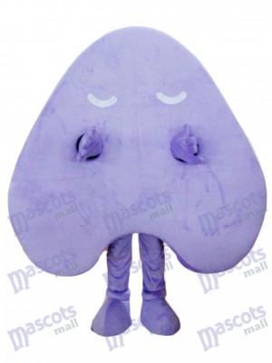 Happy Purple Letter Un costume de mascotte alphabet