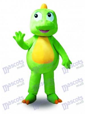 Costume de mascotte de dragon vert Animal