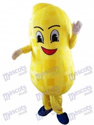 Usine de nourriture de costume de mascotte d'arachide jaune