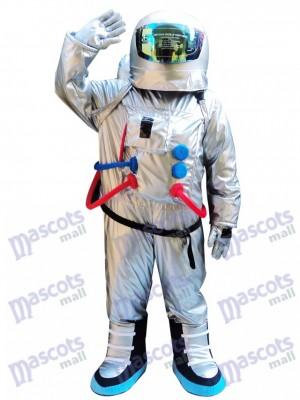 Costume spatial astronaute argent avec costume de mascotte sac à dos