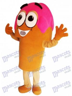 Costume de mascotte cône crème glacée rose Yummy