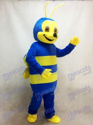 Déguisement mascotte abeille bleue