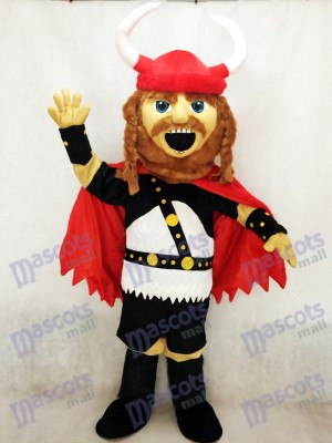 Costume de mascotte Viking pirate rouge