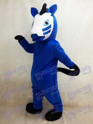 Costume de mascotte de cheval de Troie bleu royal