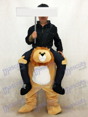 Piggyback Lion Carry Me Ride sur Costume de mascotte Lion