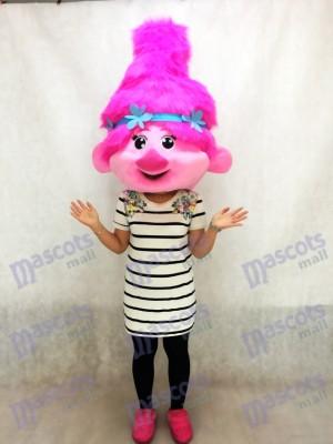 Trolls Baby Poppy Mascotte Costume Tête Seulement
