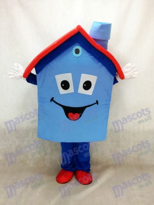Costume de mascotte Blue Housing House Immobilier