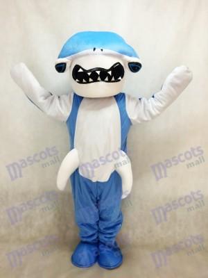 Costume bleu mascotte requin mascotte