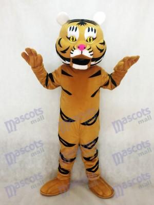Nouveau Costume Mascotte Jaune Orange Tiger Ted