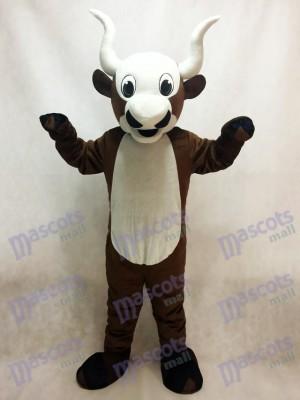 Costume de mascotte de yak au ventre blanc