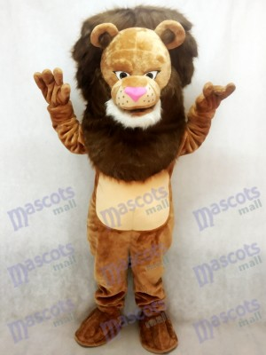 Nouveau Costume Féroce Wally Lion Mascotte Animal