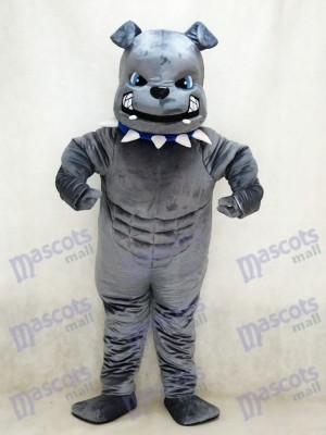 Nouveau Costume de mascotte de bouledogue gris Animal