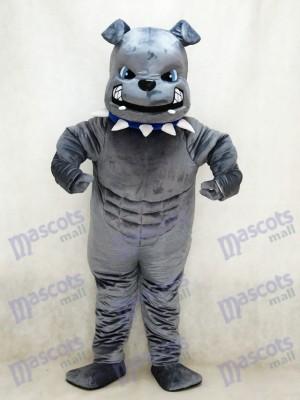 Nouveau Costume de mascotte de bouledogue gris Animal