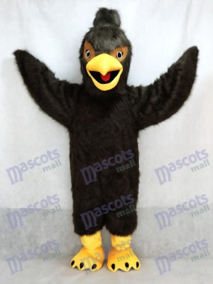 Costume de mascotte de faucon brun foncé Falcon Eagle Costume Animal
