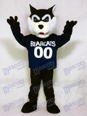 Costume mignon mascotte bleu marine Bearcat