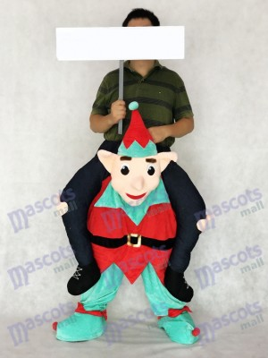 Elf Carry Me Piggy Back Ride sur Costume de mascotte de fantaisie