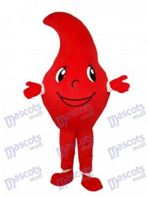 Dégoulinant rouge gouttes de la mascotte de sang costume adulte