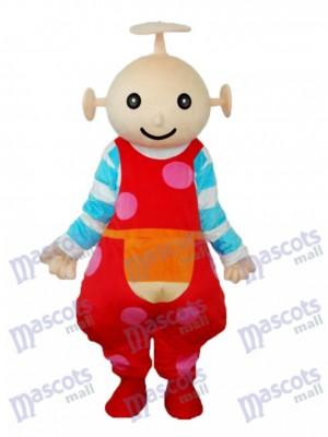 Costume adulte de mascotte de jardin d'antenne de bébé rouge