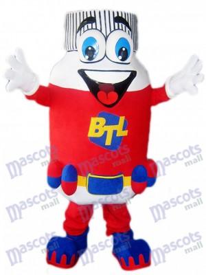 Costume de mascotte BTL de pilule rouge