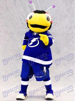 Costume de mascotte Thunderbug de Lightning de Tampa Bay Insecte de punaise de foudre noir et jaune